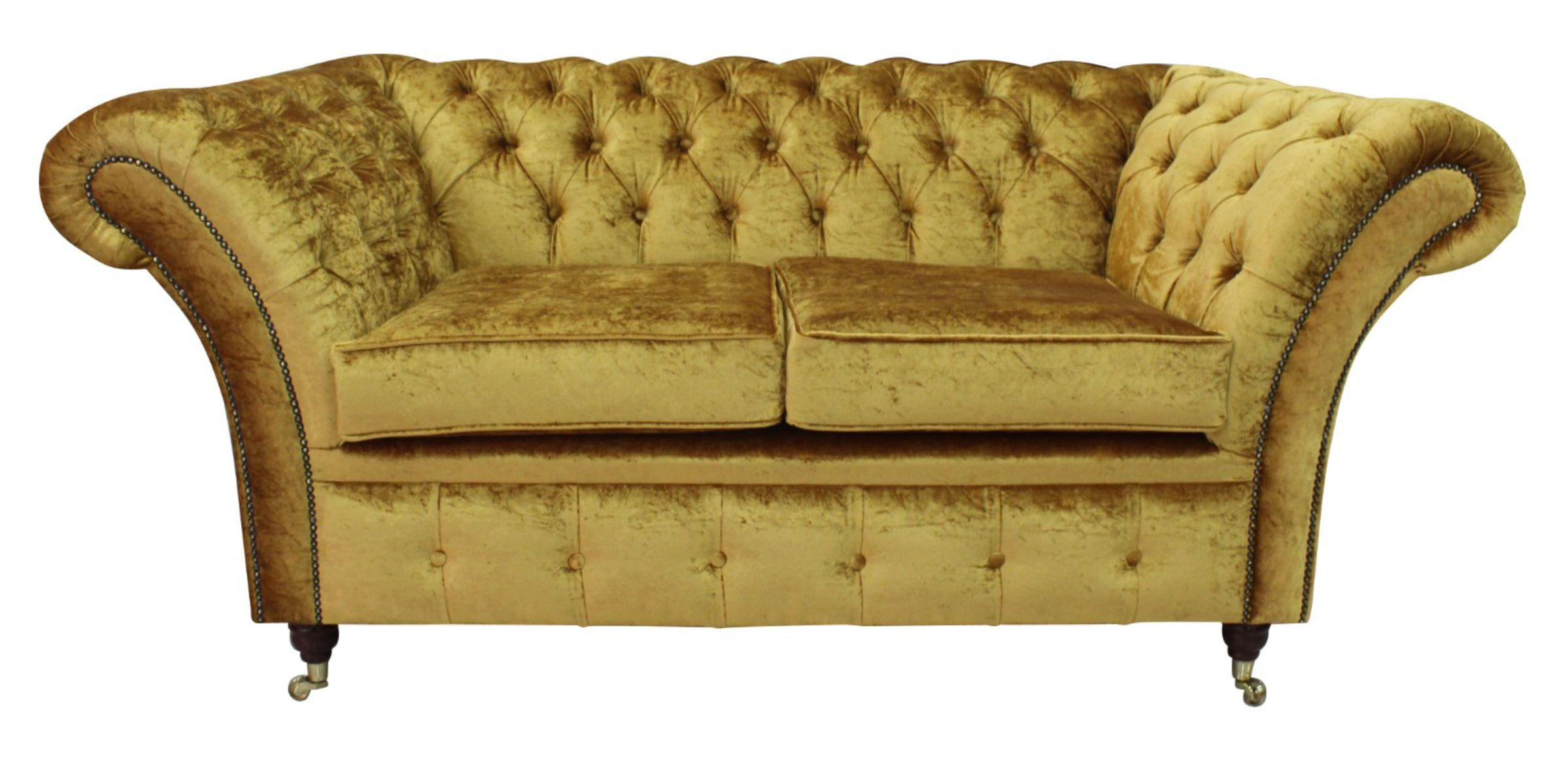 Chesterfield Sofas Quick Delivery Gold Fabric 12 Month
