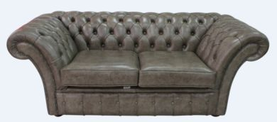 Chesterfield Balmoral 2 Seater Sofa Settee Bronx High Plains Leather