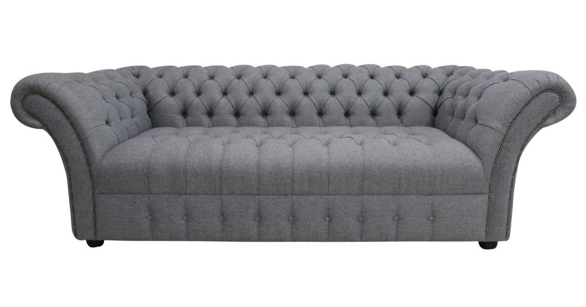 Chesterfield Balmoral 3 Seater Buttoned Seat Sofa Settee