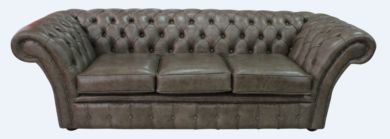 Chesterfield Balmoral 3 Seater Sofa Settee Bronx High Plains Leather