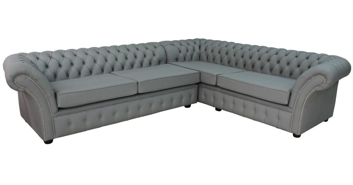 Chesterfield Balmoral Square Corner Sofa Unit Cushioned 3 ...