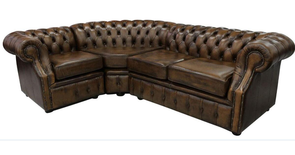Tremendous Chesterfield Richmond Grand Corner Sofa Unit 2 C 1 Antique Gold Leather Forskolin Free Trial Chair Design Images Forskolin Free Trialorg