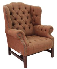Harris Teed Chesterfield Churchill High Back Wing chair | DesignerSofas4U