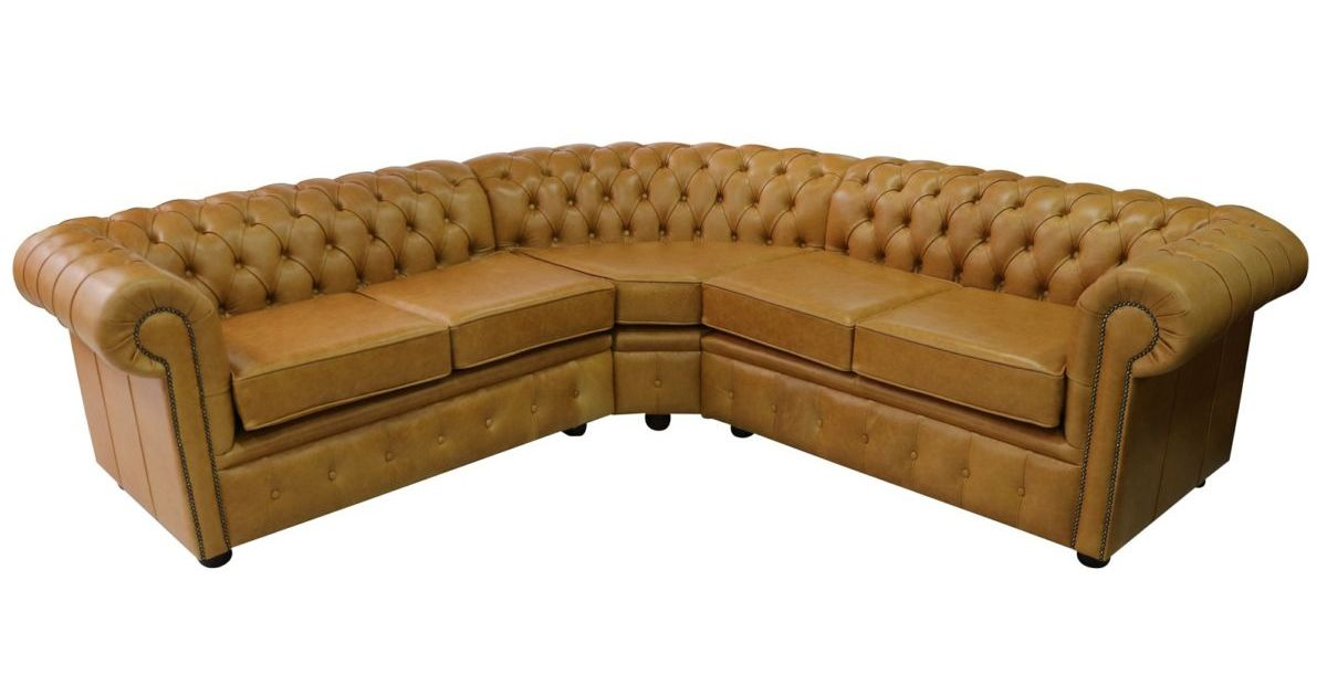 White Leather Corner Units: Chesterfield Corner Sofa Unit Cushioned 2 Seater + Corner