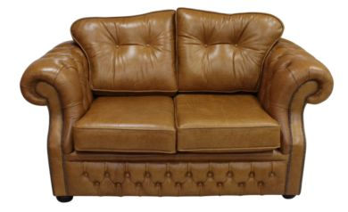 Chesterfield Era 2 Seater Sofa Old English Tan Leather