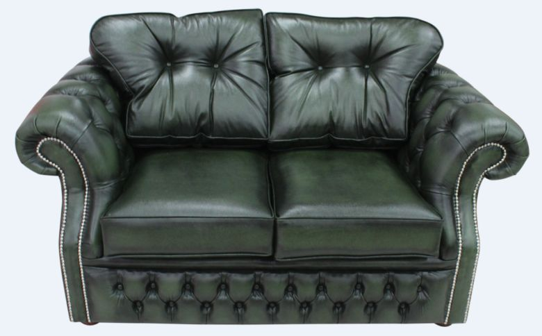 Chesterfield Era 2 Seater Settee Traditional Chesterfield Sofa Antique Green leather