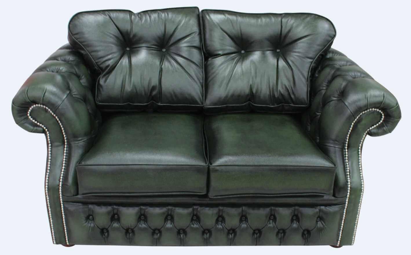 Buy Chesterfield Sofa Leather 2 Seat Settee Designersofas4u
