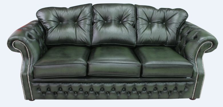 Chesterfield Era Antique Green Traditional 3 Seater Settee | DesignerSofas4U