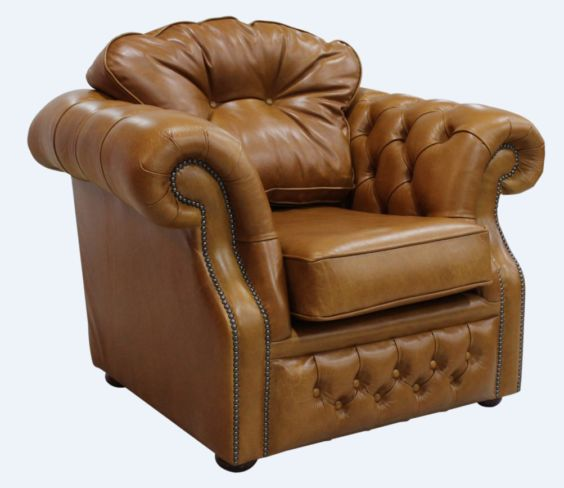 Chesterfield Era Armchair Old English Saddle Leather
