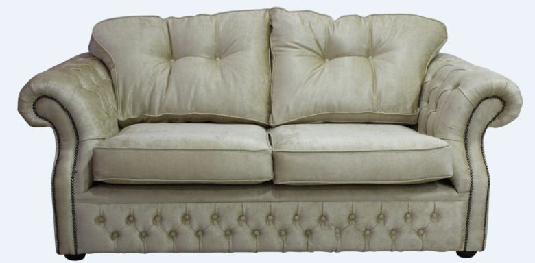 Chesterfield Era 2 Seater Settee Traditional Chesterfield Sofa Orchidea Wheat Fabric