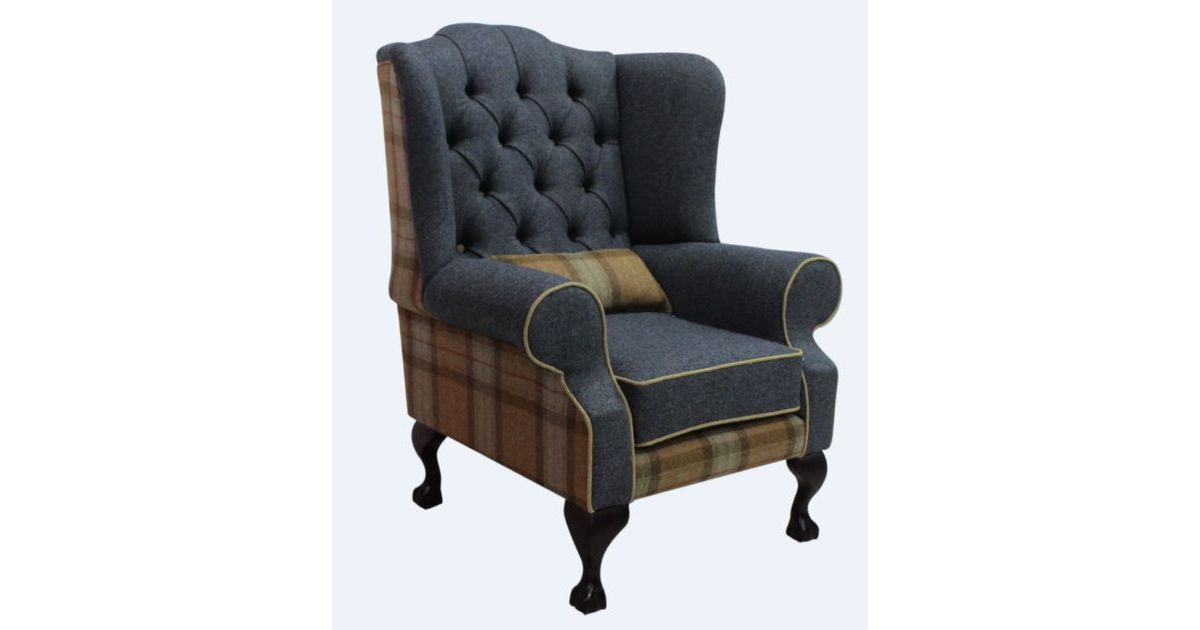 Sage Chesterfield Fredrick High Back Armchair