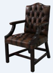 Chesterfield Gainsborough Chair - Traditional Stand Antique Tan Leather