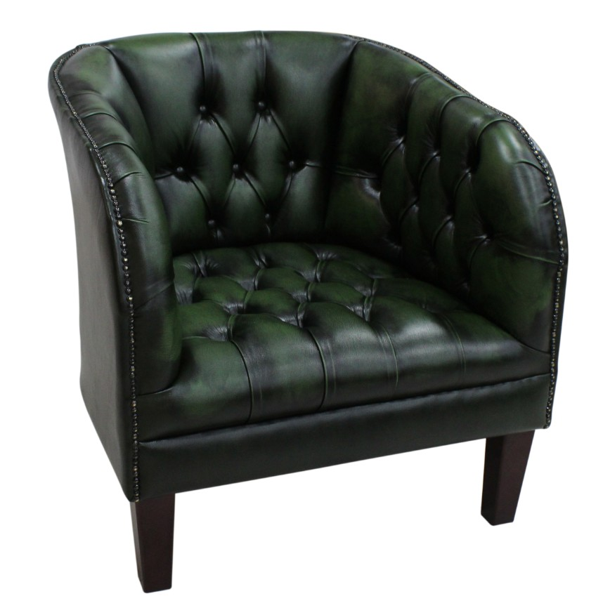 Phenomenal Chesterfield Jasper Low Back Tub Chair Uk Manufactured Antique Green Leather Dailytribune Chair Design For Home Dailytribuneorg