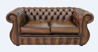 Chesterfield Kimberley 2 Seater Antique Tan Leather Sofa Offer