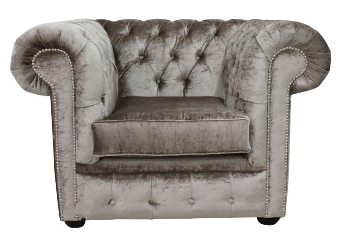 Buy Beige Chesterfield club chair at DesignerSofas4U | Sofas on Finance