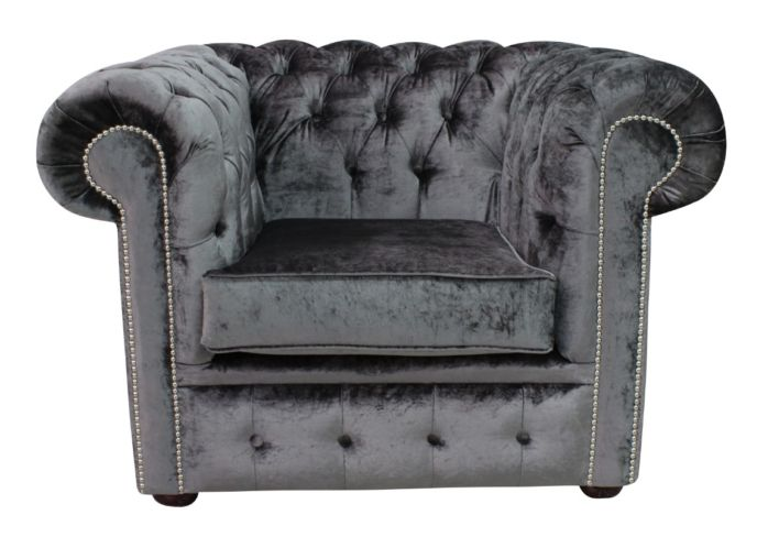 Buy Storm Belvedere Velvet Chesterfield club chair at DesignerSofas4U