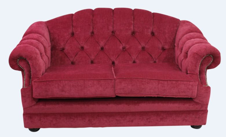 Chesterfield Merton 2 Seater Sofa Pimlico Wine Fabric