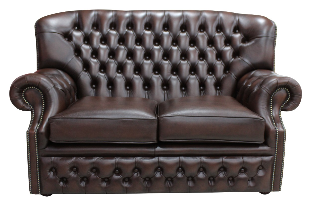 Wondrous Monks Chesterfield 2 Seater Antique Brown Leather Sofa Offer Download Free Architecture Designs Scobabritishbridgeorg