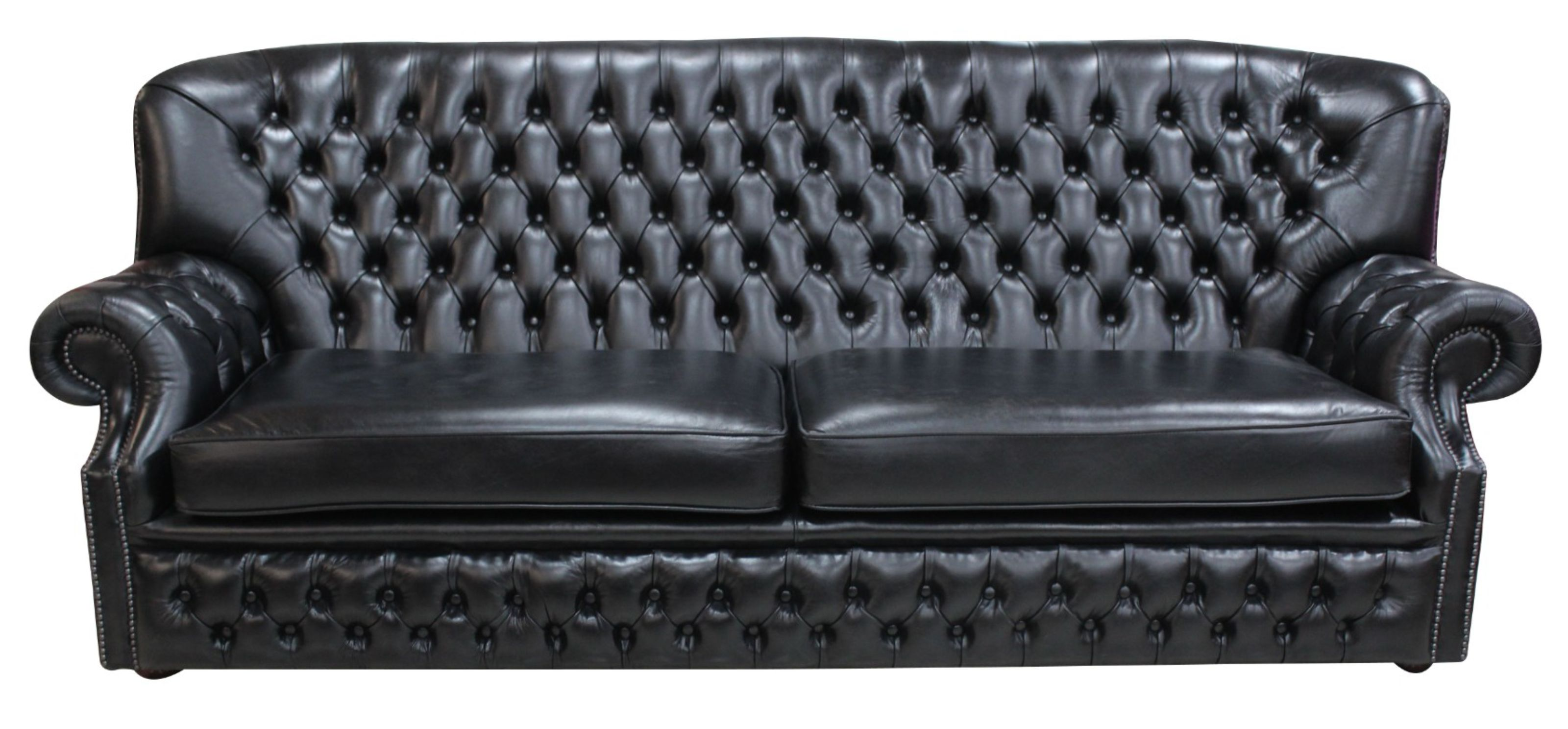 Monks Chesterfield 4-Seater Old English Leather Sofa
