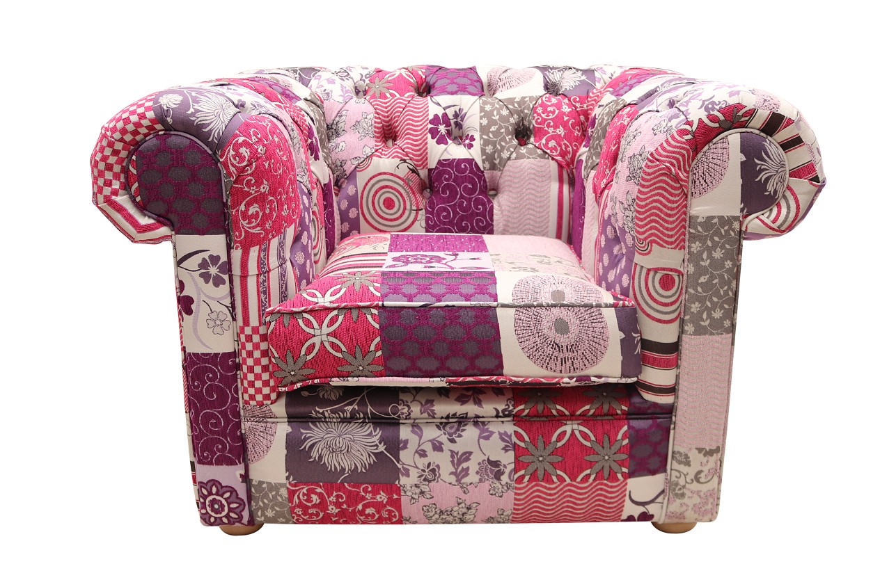 chesterfield patchwork club chair fiesta
