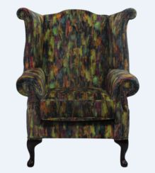 Chesterfield Saxon Queen Anne High Back Wing Chair Elora