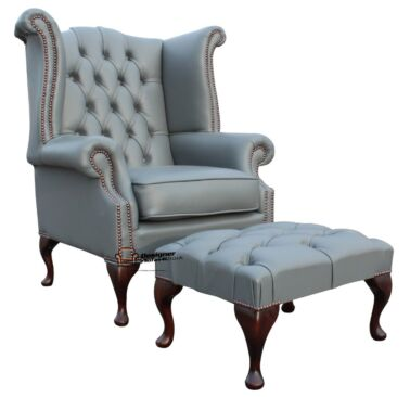 Leather Queen Anne Chairs