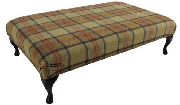 Buy hand stitched wool footstools at Designer Sofas 4U