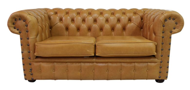 Chesterfield Radcliffe 2 Seater Settee Old English Tan Leather Sofa