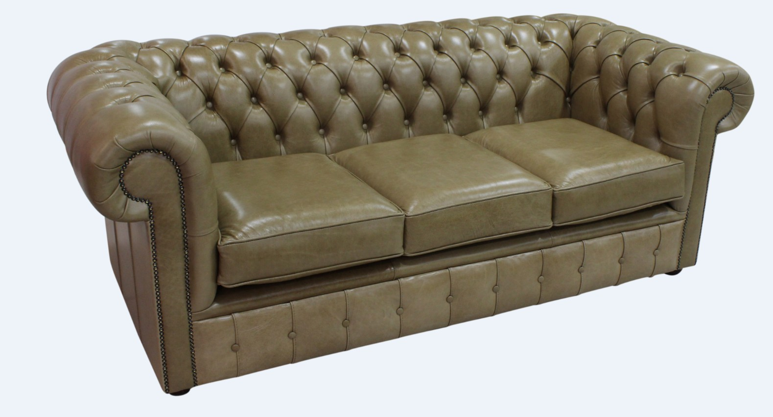Sand Chesterfield 3 Seater Settee Sofa Designersofas4u