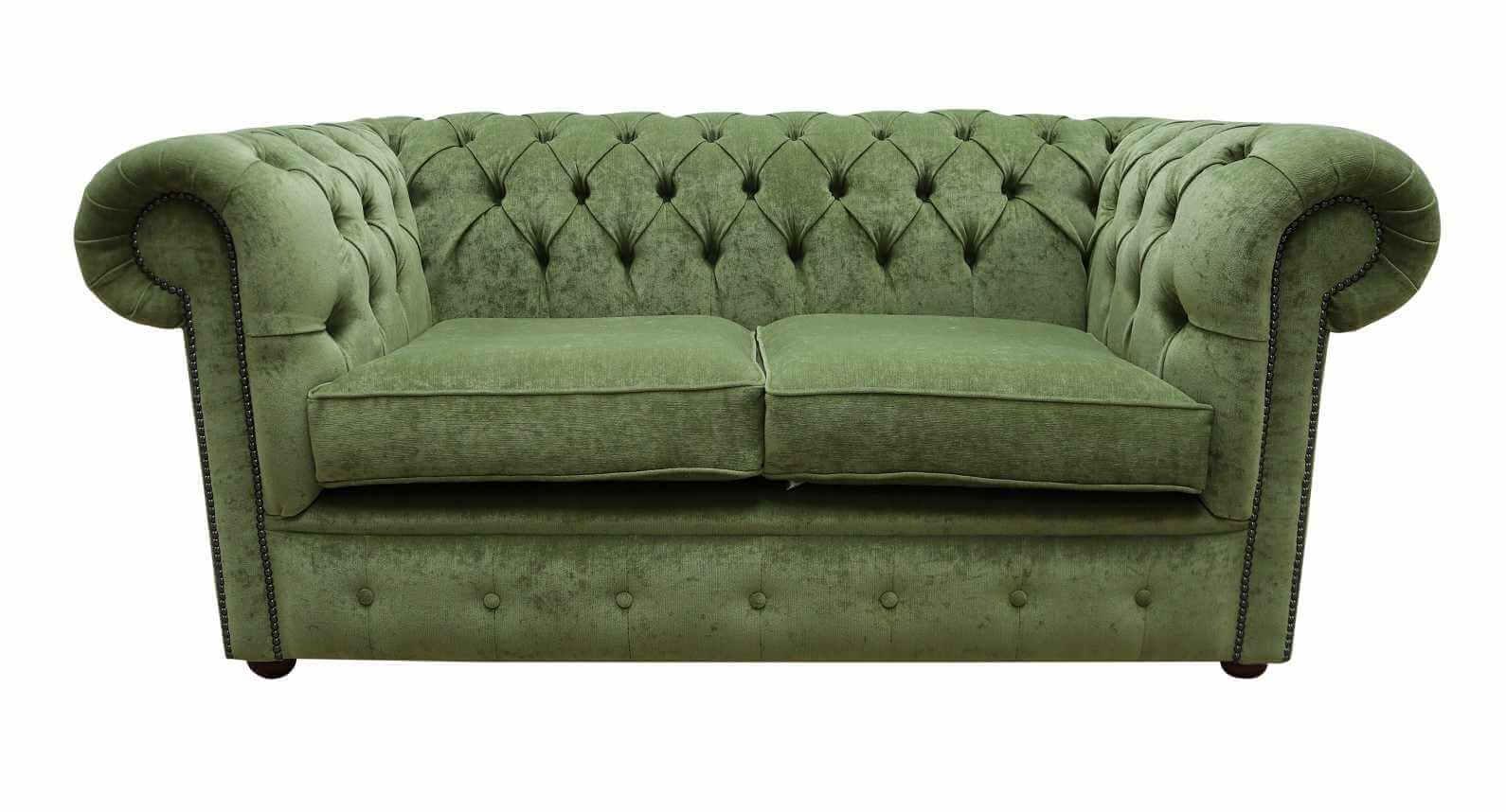 - Buy Sage Green Fabric Chesterfield Sofa DesignerSofas4U