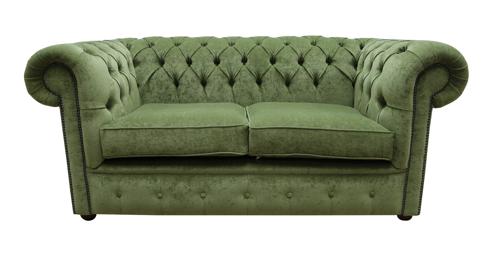 Astonishing Chesterfield 2 Seater Settee Sage Green Fabric Sofa Offer Home Interior And Landscaping Eliaenasavecom