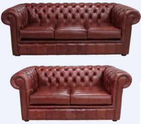 Buy chestnut leather suite|Order free chesterfield sofa|DesignerSofas4U