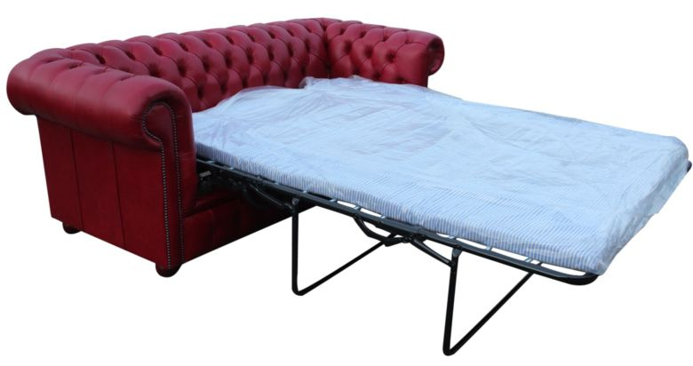 Chesterfield 3 Seater Settee Sofa Bed Old English Gamay