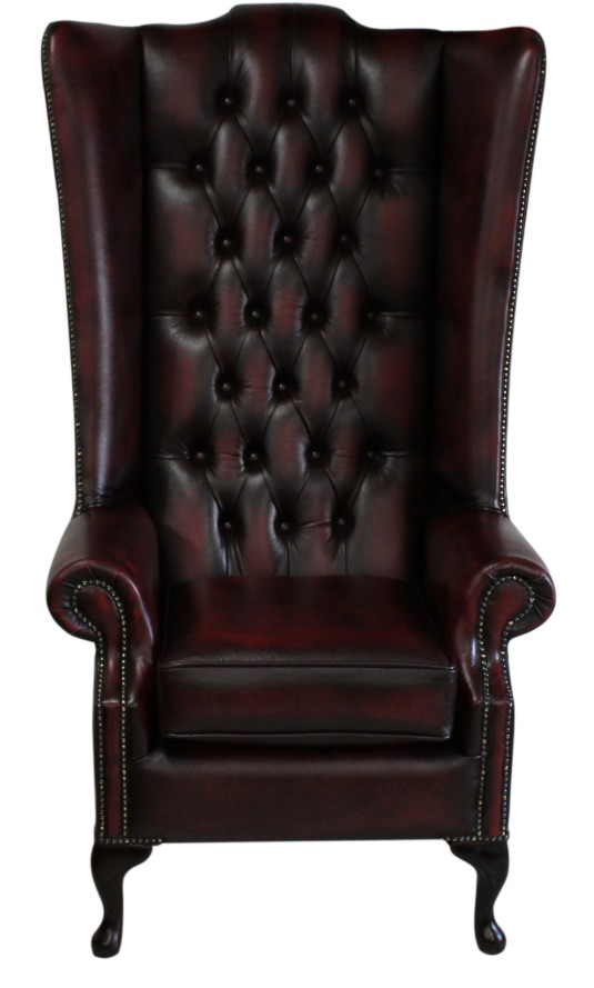 Wondrous Chesterfield Soho 5Ft Leather High Back Wing Chair Antique Oxblood Dailytribune Chair Design For Home Dailytribuneorg