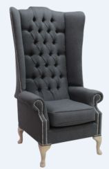 Chesterfield Soho High Back Wing Chair Conway Anthracite