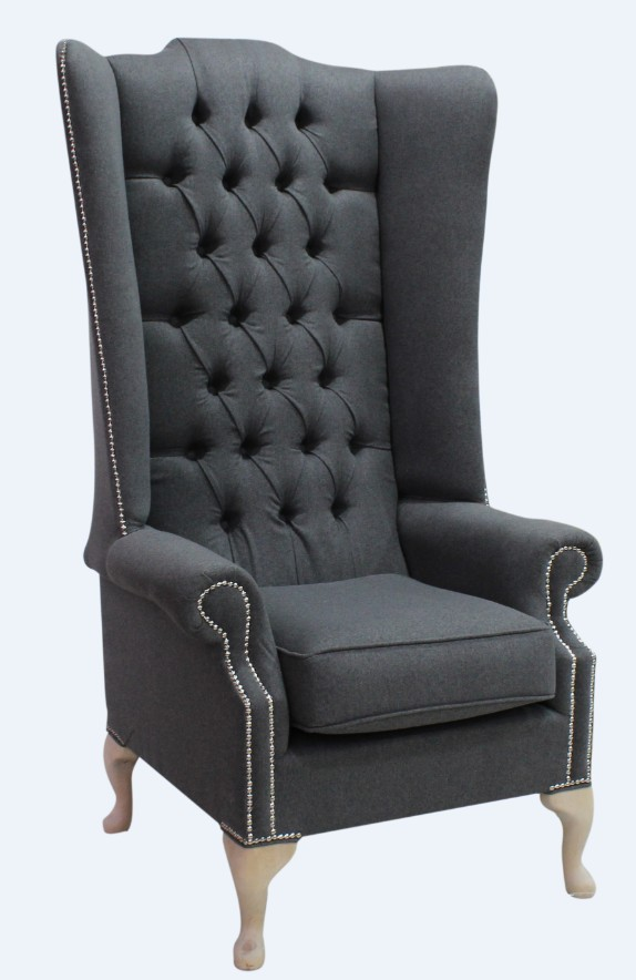 Anthracite Chesterfield Soho High Back, High Back Wing Sofa