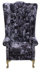 Chesterfield Soho Velvet High Back Wing Chair Lustro Lavender