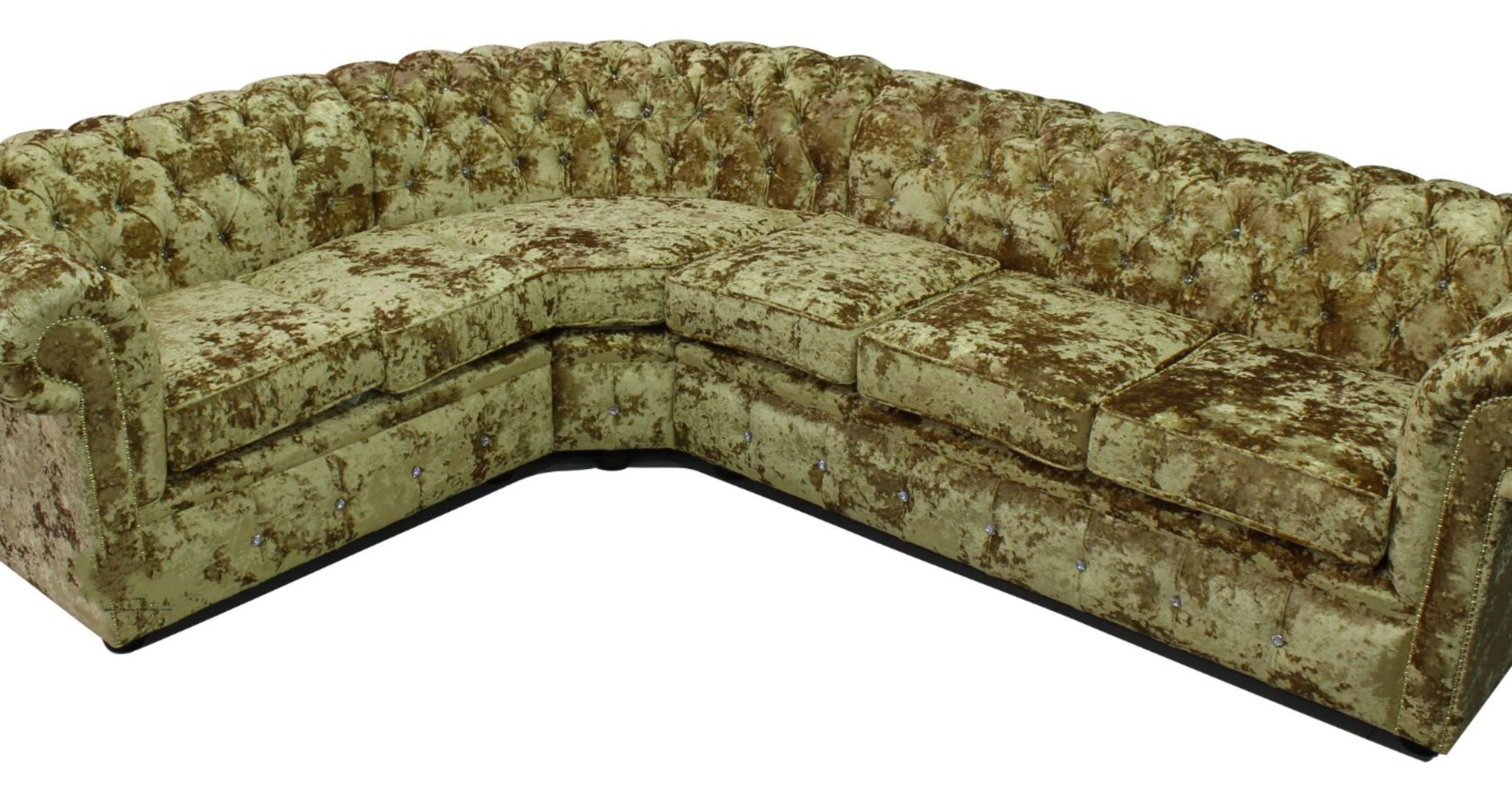 Buy Crystal Chesterfield Settee Fabric Corner Sofa
