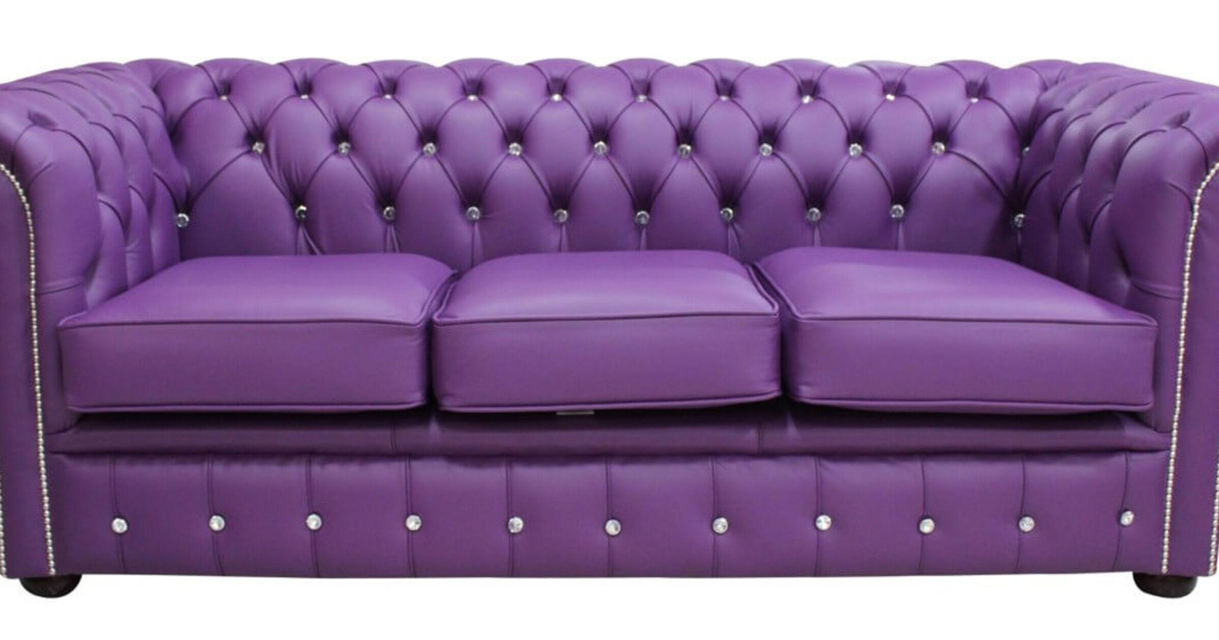 Purple Chesterfield Crystal Sofa Designersofas4u