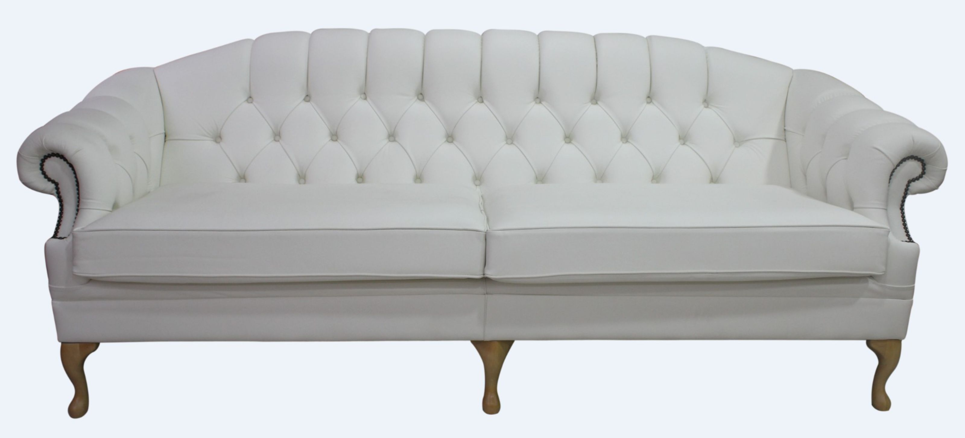 Remarkable Details About Victoria 4 Seater Chesterfield Sofa Settee Couch Real White Leather Uk Handmade Short Links Chair Design For Home Short Linksinfo