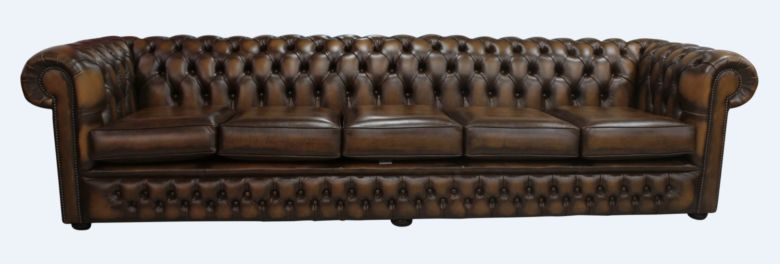 Chesterfield Winchester 5 Seater Settee Antique Tan Leather Sofa Offer