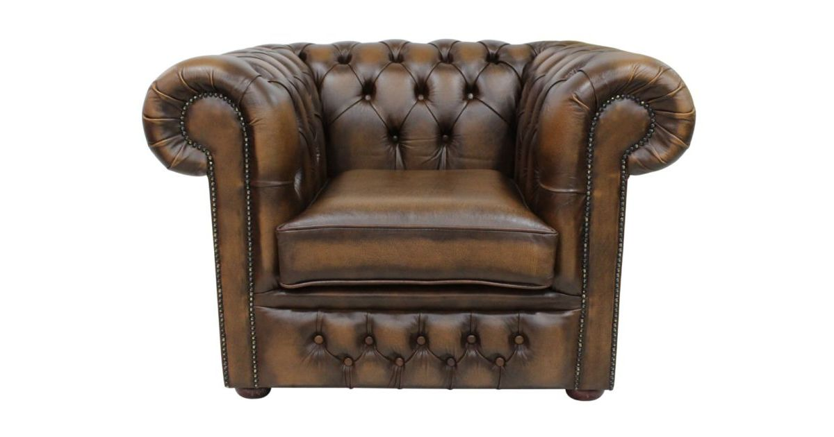 Chesterfield Winchester Low Back Club Armchair Antique Tan