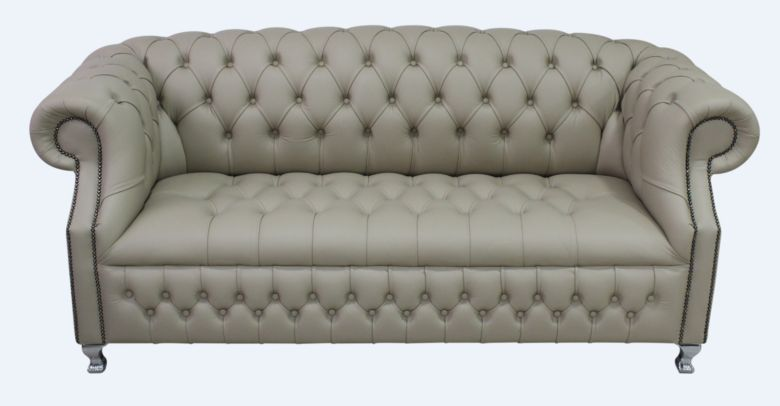 Chesterfield Windsor 3 Seater Pebble Leather Sofa Offer