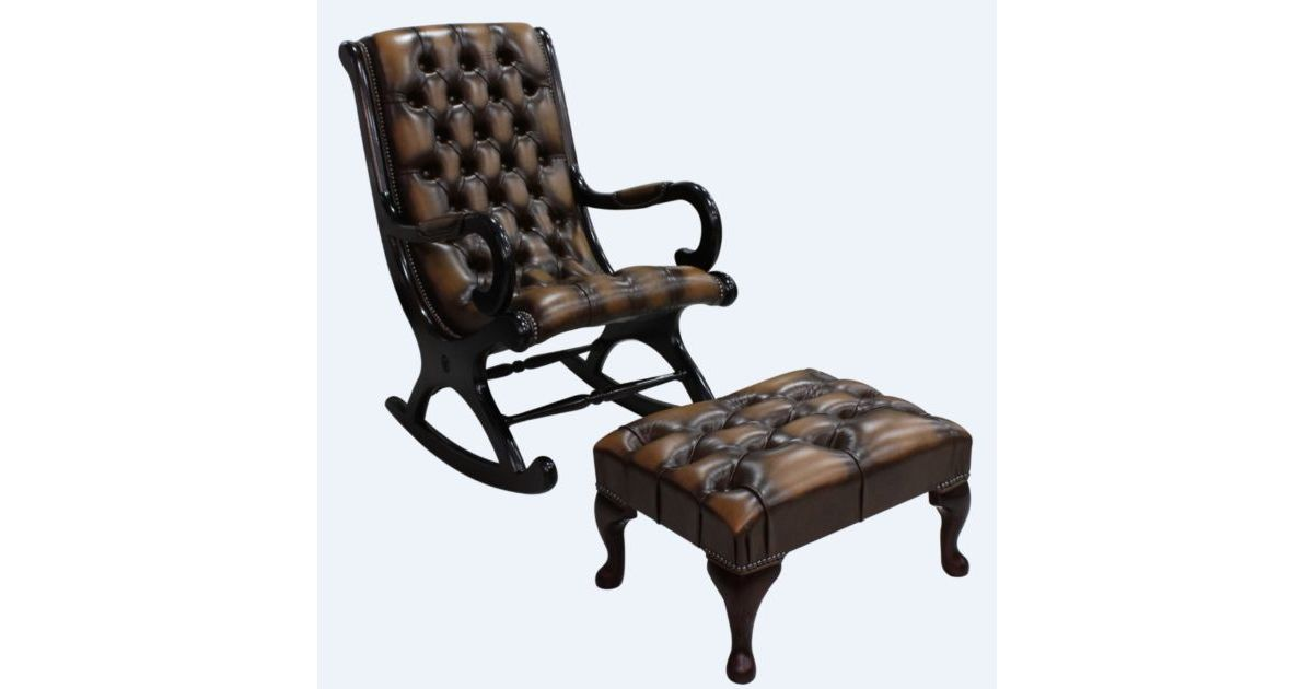 Buy Leather Chesterfield Slipper Chair Designersofas4u