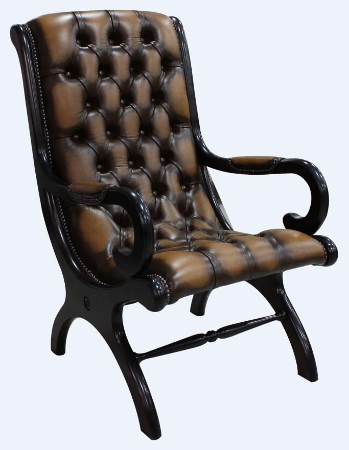 Peachy Chesterfield York Slipper Stand Chair Antique Tan Leather Creativecarmelina Interior Chair Design Creativecarmelinacom