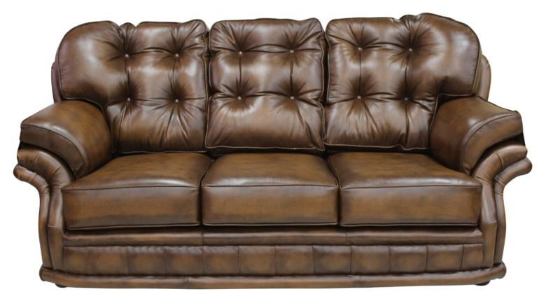 Chesterfield Knightsbridge 3 Seater Settee Traditional Chesterfield Sofa Antique Tan leather