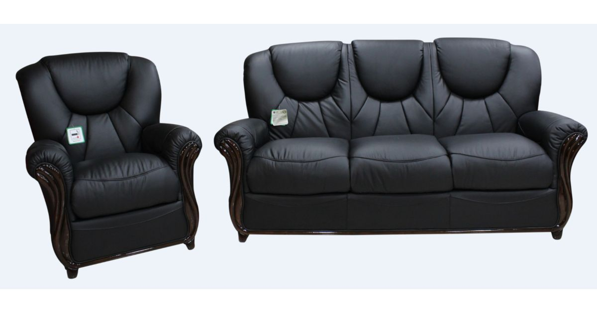 Lucca 3 1 1 genuine italian black leather sofa suite offer for Sofa 0 interest free credit
