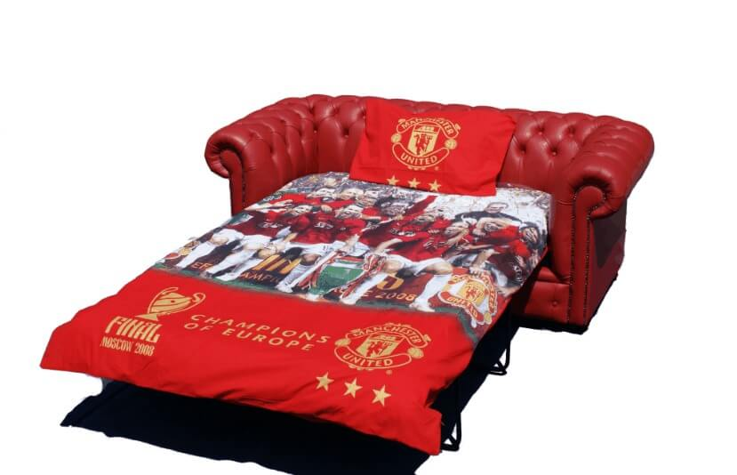 Wondrous Chesterfield Red Leather Manchester United Sofabed Uk Manufactured Download Free Architecture Designs Philgrimeyleaguecom