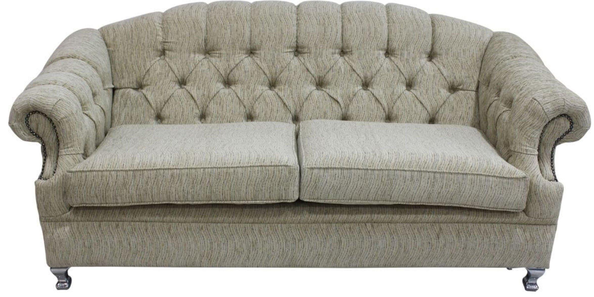 Chesterfield Merton 3 Seater Sofa Camden Ripple Honey Fabric