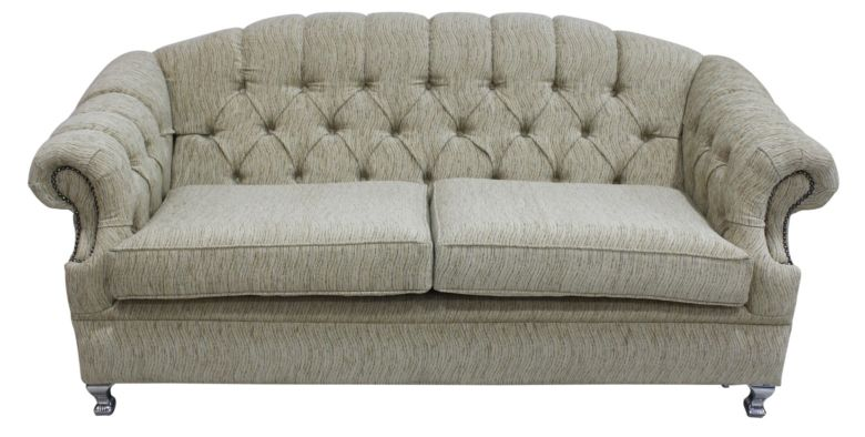 Chesterfield Merton 3 Seater Sofa Camden Ripple Honey Fabric